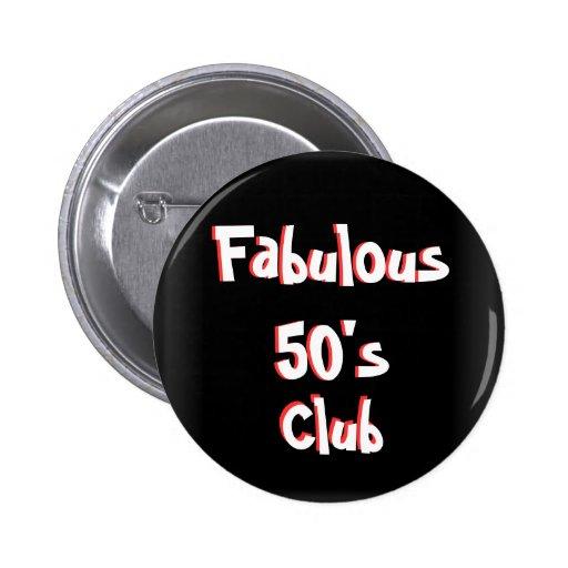 Bouton de club des années 50 de Faboulos Badge