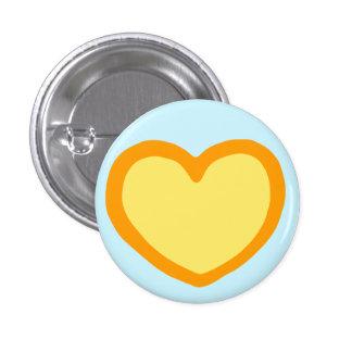 Bouton de coeur badge rond 2,50 cm