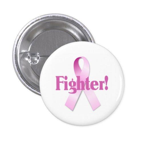 Bouton de combattant de cancer du sein pin's avec agrafe