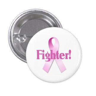 Bouton de combattant de cancer du sein badge rond 2,50 cm