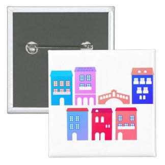 Bouton de conception avec des maisons badge