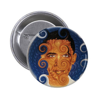 Bouton de conception de fractale d'Obama Badge