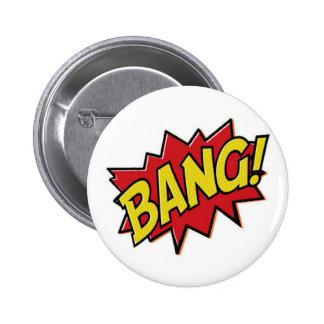 Bouton de coup de super héros de bandes dessinées badge rond 5 cm
