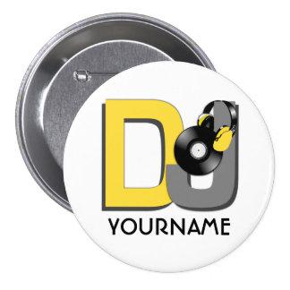 Bouton de coutume du DJ Badges
