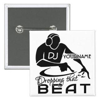 Bouton de coutume du DJ Pin's
