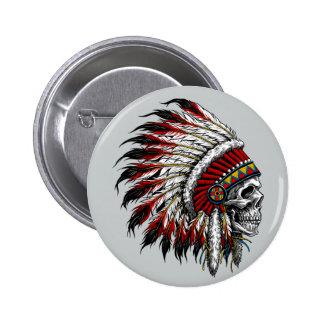 Bouton de crâne de Natif américain Badge
