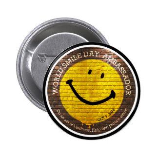 Bouton de Day® 2016 de sourire du monde Badges