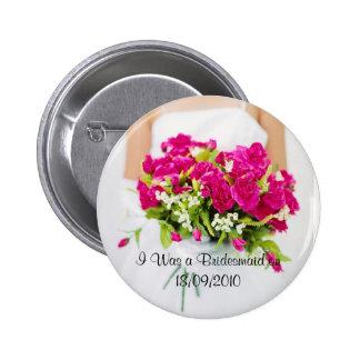 Bouton de demoiselle d'honneur badge avec épingle