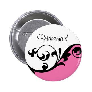 Bouton de demoiselle d'honneur badge rond 5 cm