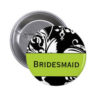 Bouton de demoiselle d'honneur de B&G Badge Rond 5 Cm