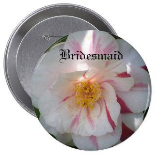 Bouton de demoiselle d'honneur de camélia badges