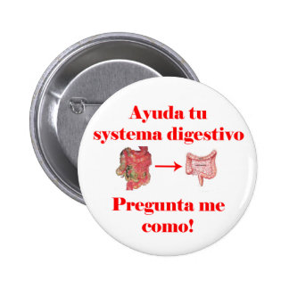 Bouton de digestivo de systema d'Ayuda TU Pin's