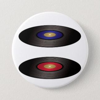 Bouton de disques vinyle badge