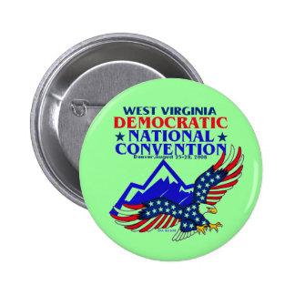 Bouton de DNC la VIRGINIE OCCIDENTALE Badges