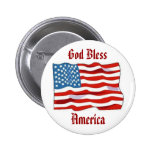 Bouton de drapeau américain badge