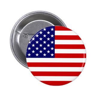 Bouton de drapeau américain badge rond 5 cm