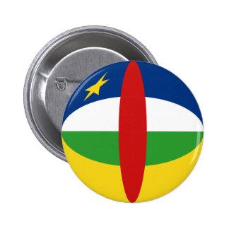 Bouton de drapeau de Centrafrique Fisheye Pin's Avec Agrafe