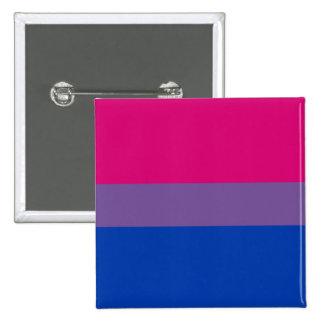 Bouton de drapeau de fierté de Bi (carré) Badges