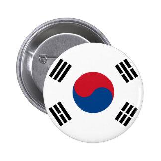 Bouton de drapeau de la Corée du Sud Badge Rond 5 Cm