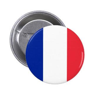 Bouton de drapeau de la France Badges Avec Agrafe