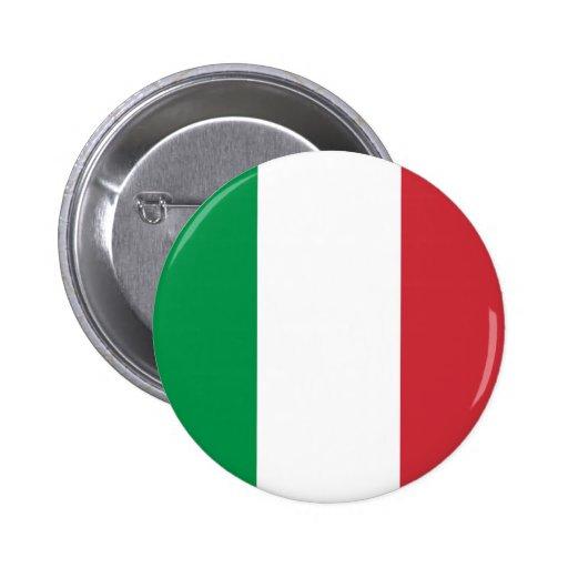 Bouton de drapeau de l'Italie Badges Avec Agrafe