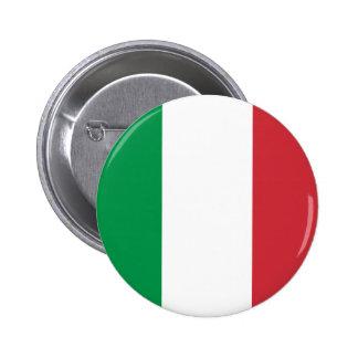 Bouton de drapeau de l'Italie Badge Rond 5 Cm
