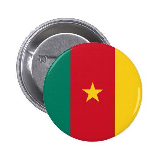 Bouton de drapeau du Cameroun Badge Avec Épingle