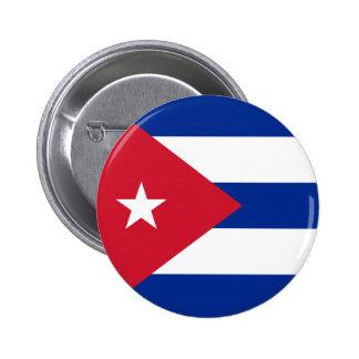 Bouton de drapeau du Cuba Badge