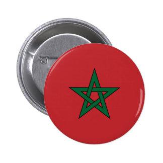 Bouton de drapeau du Maroc Badge Avec Épingle