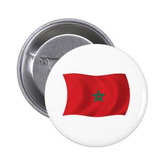 Bouton de drapeau du Maroc Badge