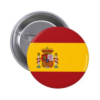 Bouton de drapeau national de l'Espagne Badge Rond 5 Cm