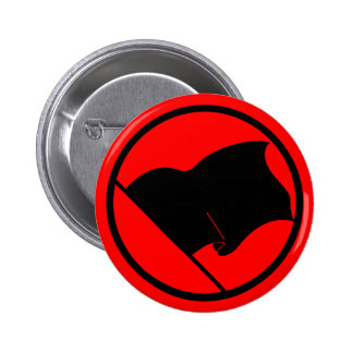 Bouton de drapeau noir d'anarchiste badge rond 5 cm