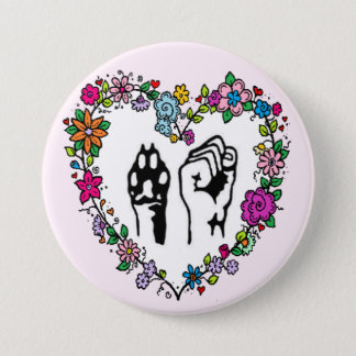 Bouton de droits des animaux badges