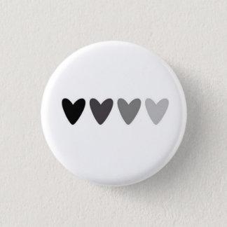 Bouton de effacement de coeurs badge