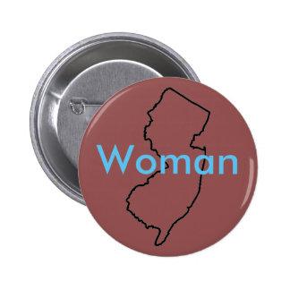 Bouton de femme de NJ Pin's