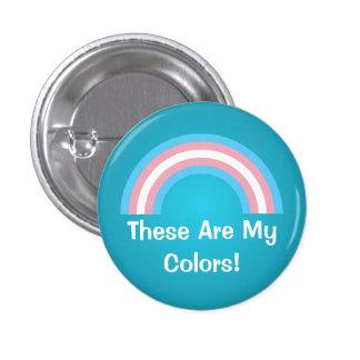 Bouton de fierté d'arc-en-ciel de transsexuel badge