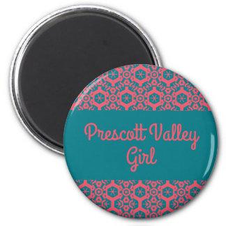 Bouton de fille de vallée de Prescott Aimant