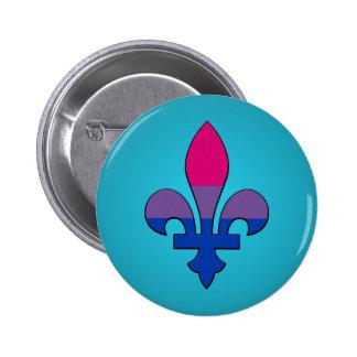 Bouton de fleur-De-lis de fierté de bisexualité Badge