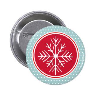 Bouton de flocon de neige badge