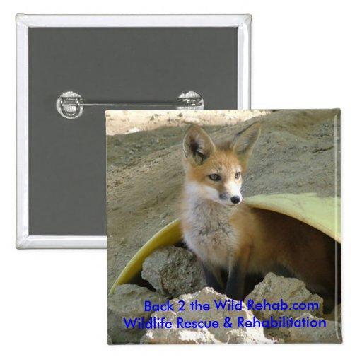 Bouton de Fox de bébé Badges