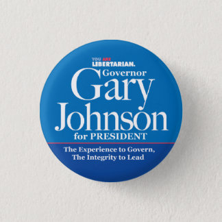 Bouton de Gary Johnson Pin's