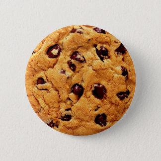 Bouton de gâteau aux pépites de chocolat badges