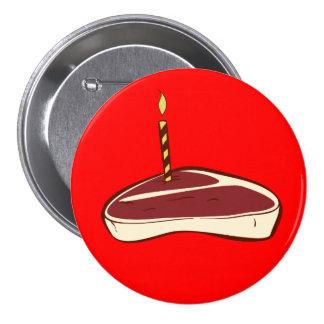 Bouton de gâteau de boeuf pin's