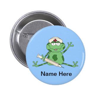 Bouton de grenouille d'infirmière pin's