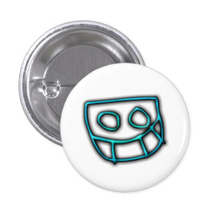 Bouton de Grinny de pignon du DJ [cyan] Badge Avec Épingle