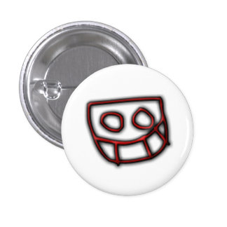Bouton de Grinny de pignon du DJ [rouge] Badge