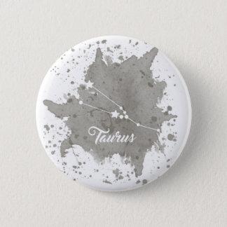 Bouton de gris de Taureau Badge