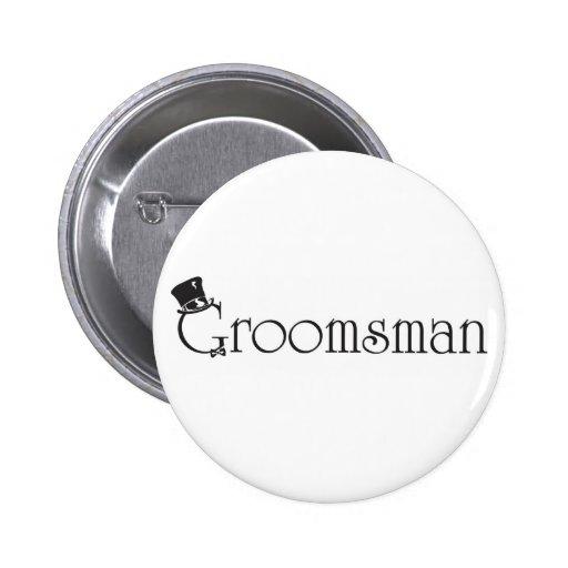 Bouton de Groomsman Badges Avec Agrafe