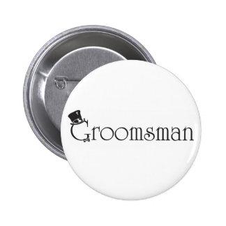Bouton de Groomsman Badge Rond 5 Cm
