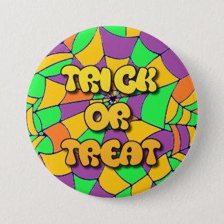 Bouton de Halloween de des bonbons ou un sort Badge